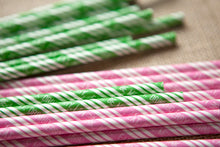 Set of 25 'Eat. Drink. Be Merry' Paper Straws