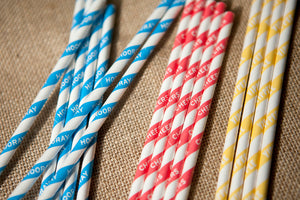 Set of 25 Celebration Paper Straws