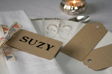 Set of 20 Brown Kraft Luggage Tags