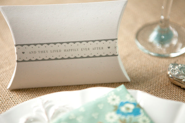 Pretty Wedding Words Scalloped Paper Tape