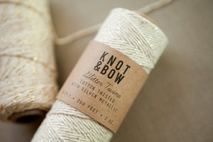 Spool of Metallic Shimmer Baker's Twine