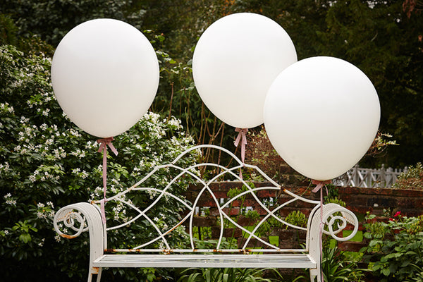 Set of 3 Huge White Balloons