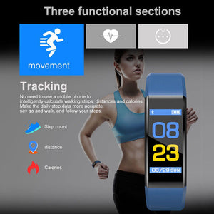 Fitness Tracker Bracelet Heart Rate Blood Pressure Monitor