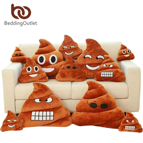 BeddingOutlet Smile Cushion Poop Emoji Pillow