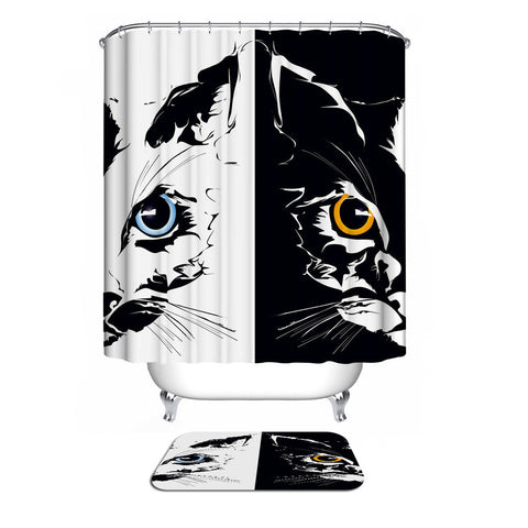 Cats Waterproof Shower Curtain