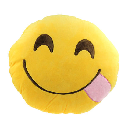 Emoji Smiley Hungry  Pillow