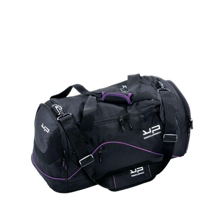 Black And Purple 55l Sportsbag - Bodypack