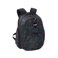 Computer Backpack With Usb Port Green Skull - Bodypack