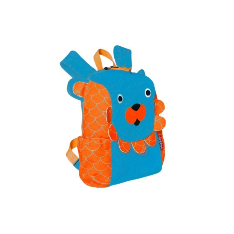 Snack Bag Lion Orange And Blue Backpack Lion Boy - Bodypack