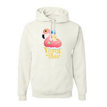 Load image into Gallery viewer, FLAMINGO GIRL HOODIE - WHITE