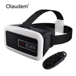 VR Glasses Google Cardboard Virtual Reality 3D Glasses VR Park Helmet + Bluetooth Controller For Smartphone VR818 - firstcellphoneadvantage.com
