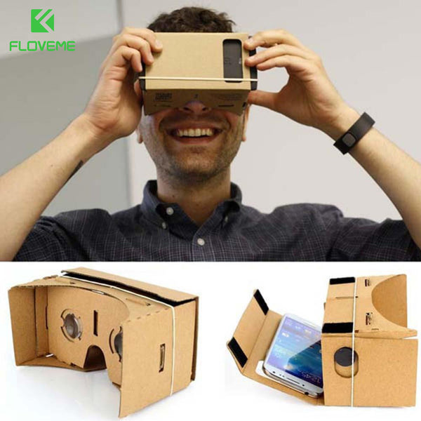FLOVEME Hot DIY Carton Cardboard VR BOX VR Virtual Reality 3D Glasses High Quality For 3.5-5.1 inch Smartphone Cellphone 3D View - firstcellphoneadvantage.com