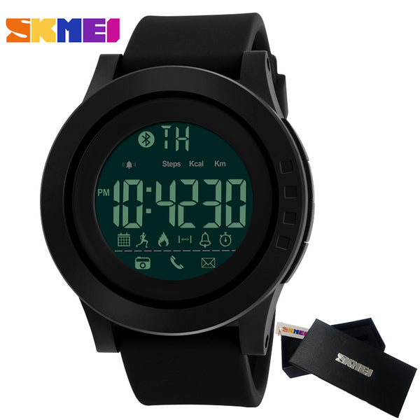 SKMEI Men Smart Watch Bluetooth Calorie Pedometer Multi-Functions Sports Watches Men 50M Waterproof Digital Men's SmartWatch - firstcellphoneadvantage.com