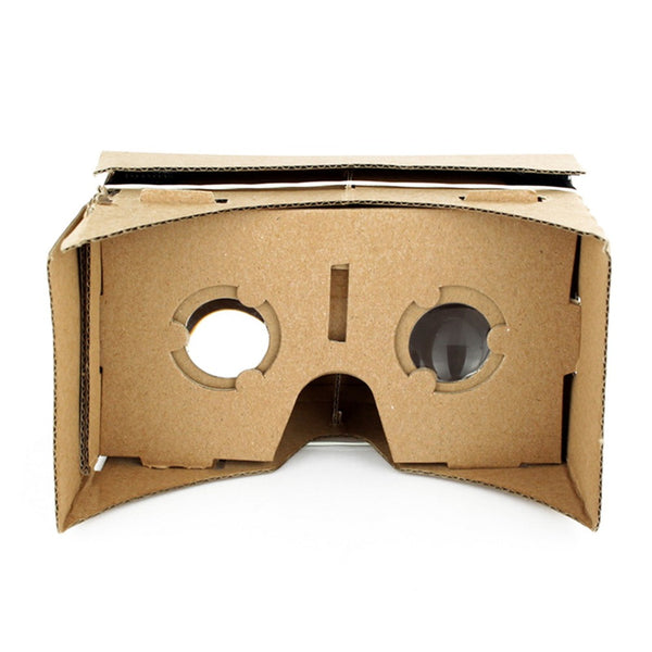 New DIY Google Cardboard 3D Glasses Ultra Clear Virtual Reality VR Mobile Phone Movie Game 3D Viewing Google Glasses Wholesale - firstcellphoneadvantage.com