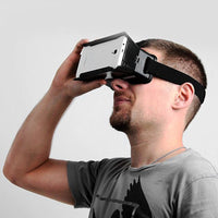3D Video Glasses Universal Google Virtual Reality Practical Color Cross with Elastic Band for 4 - 6 inch Smartphones Video Glass - firstcellphoneadvantage.com