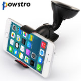 Powstro Universal Car Holder Car Windshield Mount Holder phone For iPhone 5S 6 6S 7 7plus Samsung HTC LG Most phones GPS devices - firstcellphoneadvantage.com