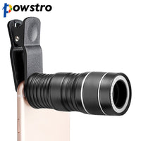 Powstro Universal 8x Zoom Optical Phone Telescope Portable Mobile Phone Telephoto Camera Lens and Clip for iPhone Samsung Galaxy - firstcellphoneadvantage.com