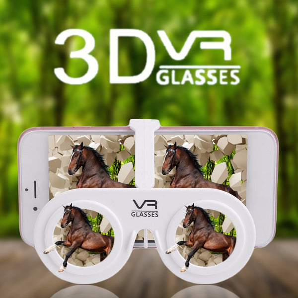 "Portable Mini 3D Virtual Reality Glasses Portable Mini Fold 3D Glasses Suitable For 4.0-6.5"" Phone With Frame and Hold - firstcellphoneadvantage.com"