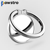 Powstro Metal Finger Ring Mobile Phone Smartphone 360 Degree Stand Holder For iPhone Samsung Smart Phone GPS MP3 Car Mount Stand - firstcellphoneadvantage.com
