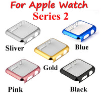 Series 2 Watch PC Case Electroplating Plastic Cover for iWatch Series 2 Case 38/42mm Gold Silver Black Pink Screen Protector - firstcellphoneadvantage.com
