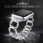 Stainless Steel Strap For Apple Watch Band Rhinestone Diamond 38mm/42mm Smart Watch Metal Band for iWatch Series 3 2 1 - firstcellphoneadvantage.com
