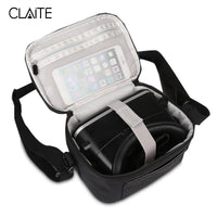 Claite Portable VR Glasses Case Bags Outdoor 3D Virtual Reality Storage Carrying Travel Case Bag For Outdoor Party Theater - firstcellphoneadvantage.com