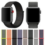 FOHUAS Lightweight Breathable Nylon Sport Loop Band for Apple Watch Series 3 2 1 42MM 38MM for iWatch watchband Sport Loop - firstcellphoneadvantage.com