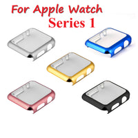 Series 1 Watch PC Case Electroplating Plastic Cover for iWatch Series 1 Case 38/42mm Gold Silver Black Pink Screen Protector - firstcellphoneadvantage.com