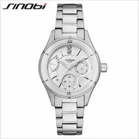 SINOBI Ceramic Watch Luxury Women's Watches Week Date Ladies Watch - firstcellphoneadvantage.com