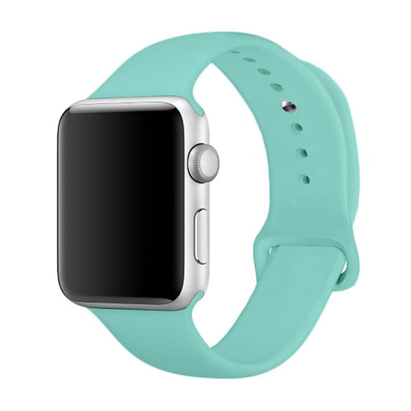 Sport Band for Apple Watch 42mm 38mm, Soft Silicone Strap Replacement iWatch Bands for Apple Watch Sport, Series 3, Series 2, Series 1 S/M M/L - firstcellphoneadvantage.com