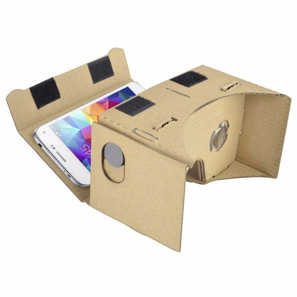 DIY Cardboard Ultra Clear 3D Virtual Reality Glasses For SmartPhone Computer Portable Video Glasses Cardboard - firstcellphoneadvantage.com
