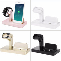 Portable 2 in 1 Charging Dock For Apple Charger Holder For iWatch For iPhone 7/6/5 Phone Watch Bracket For Apple Series Hot Sale - firstcellphoneadvantage.com