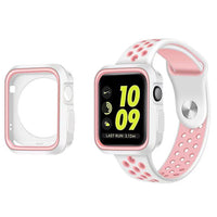 Fashion Dual Colors Soft Silicone Case Bumper For Apple Watch iWatch Series 1 & 2 & 3 Cover Frame Full Protection 42mm 38mm - firstcellphoneadvantage.com