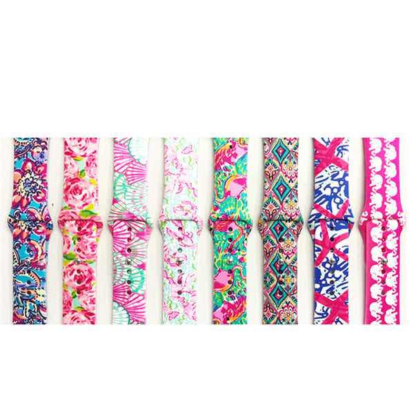 Camouflage flowers print Silicone Replacement Sport Band  For Apple Watch Series123 38mm 42mm Strap For iWatch Sports Edition - firstcellphoneadvantage.com
