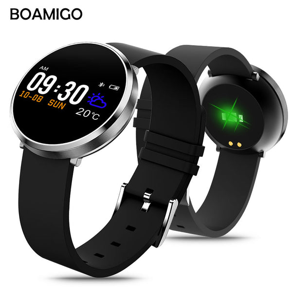 Bluetooth Smart Watch Android IOS Smartwatch Phone Call Remind Calories Heart Rate Monitor BOAMIGO Brand Bracelet Wristband - firstcellphoneadvantage.com