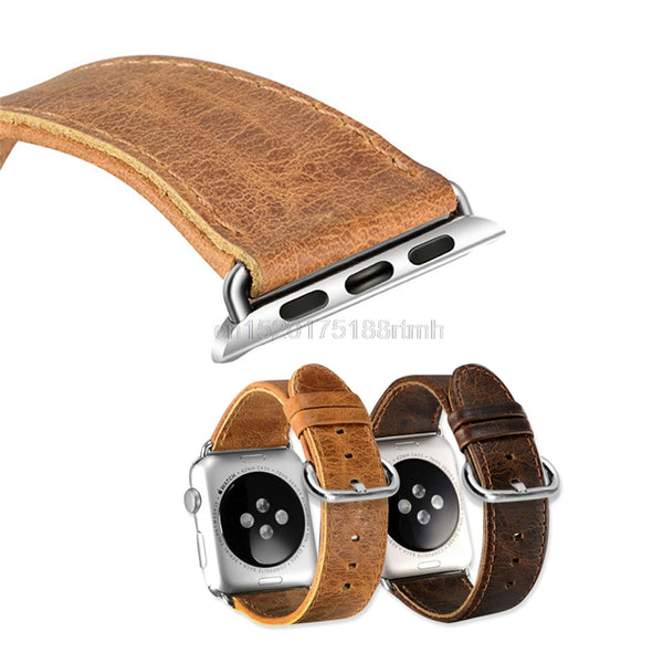 Luxury Band Strap Leather Bracelet Watchband For Apple Watch iWatch 38 42mm - firstcellphoneadvantage.com