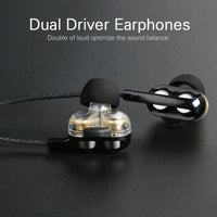 Dual Driver Earphone with Mic - firstcellphoneadvantage.com