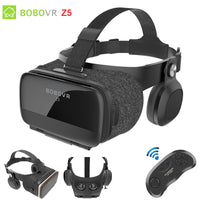 Original BOBOVR Z5 VR Glasses 3D Virtual Reality Cardboard Helmet Box for Iphone Android Smartphone with vr Remote Controller - firstcellphoneadvantage.com