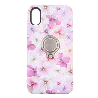iPhone X Flowers Pattern Phone Case - Ring Scratch-resistant Shockproof Protective - firstcellphoneadvantage.com