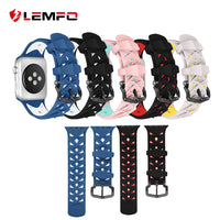 Fashion Diamond double color double buckle strap 38 mm and 42 mm replacement straps for Apple Watch iwatch band - firstcellphoneadvantage.com