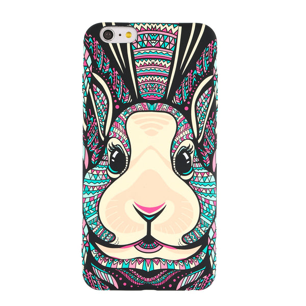 Protective Phone Cover Scratch-resistant Shockproof Rabbit Pattern TPU Soft Phone Case Cover for iPhone - firstcellphoneadvantage.com