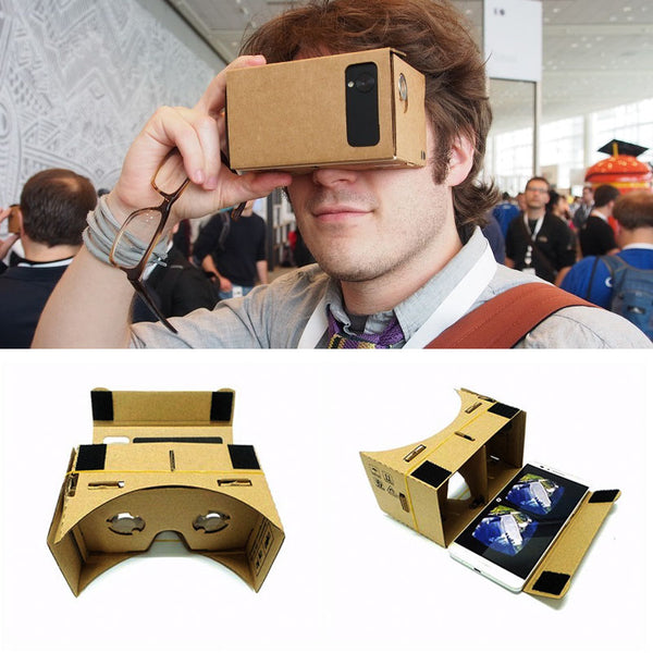 Virtual 3D Glasses Google Cardboard Glasses Box Movies For IPhone 5 6 7 Huawei Samsung Xiaomi SmartPhones Headset - firstcellphoneadvantage.com