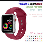 YOUKEX Silicone Sport Band for Apple Watch 38mm 42mm Replacement Sport Bracelet Wrist Strap for iWatch Series 1 & 2 & 3 - firstcellphoneadvantage.com