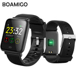 Bluetooth Smart Watch BOAMIGO Smartwatch For IOS Android Phone Call Remind Camera Calories Heart rate bracelet Wristband OLED - firstcellphoneadvantage.com