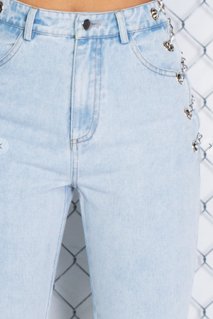 EXPOSED CHAIN DENIM