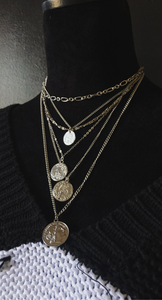 COINS ON COINS LAYERED NECKLACES