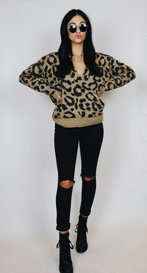 CHEETAH GIRL SWEATER