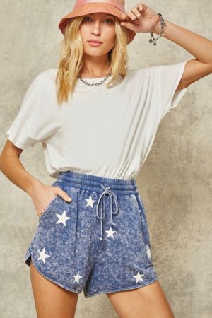 STAR SPANGLED HIGH WAISTED SHORTS