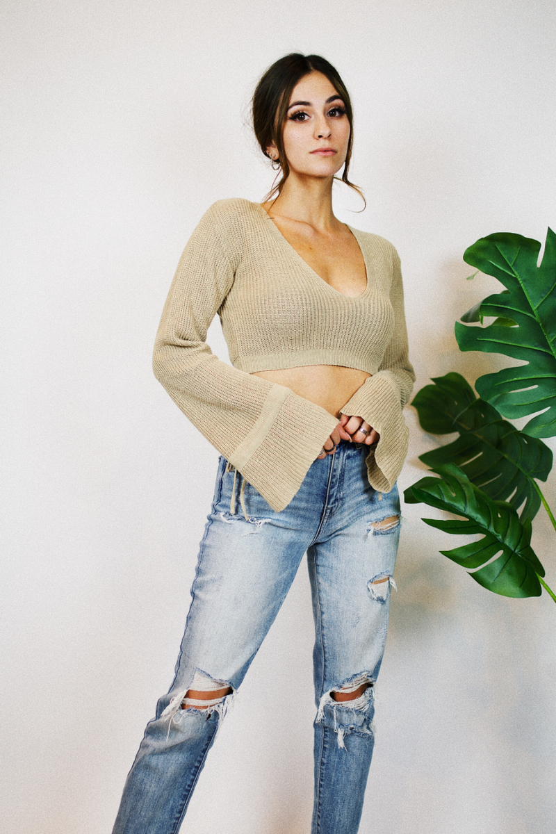 SANDY SUMMER CROPPED SWEATER