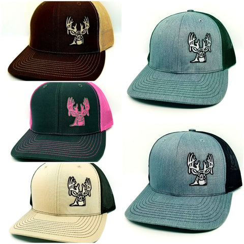 Down South Freaks Deer Logo Snapback Mesh Trucker Caps